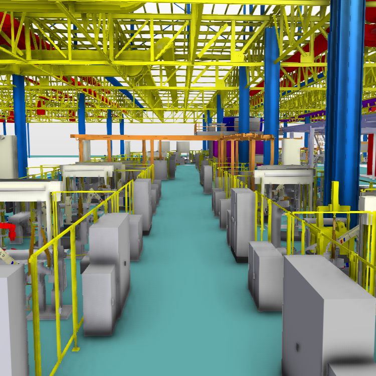 Large Factory with Robots
